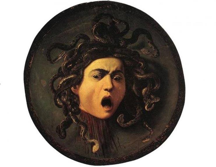 Medusa de Caravaggio. Imagen: Wikimedia