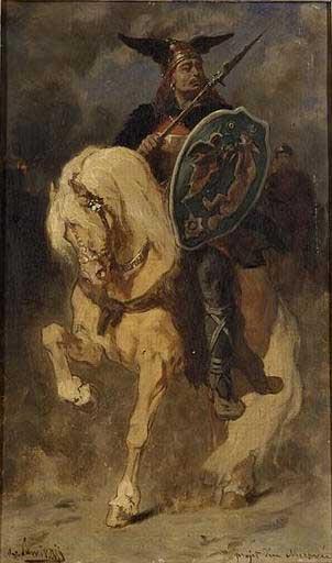 Merovec, mítico fundador del linaje merovingio (Public Domain)
