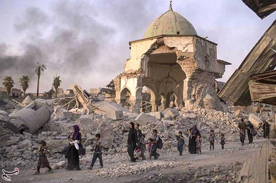 Mezquita de Nuri, en Mosul, tras ser reconquistada a los terroristas de Isis. (CC BY-SA 4.0)
