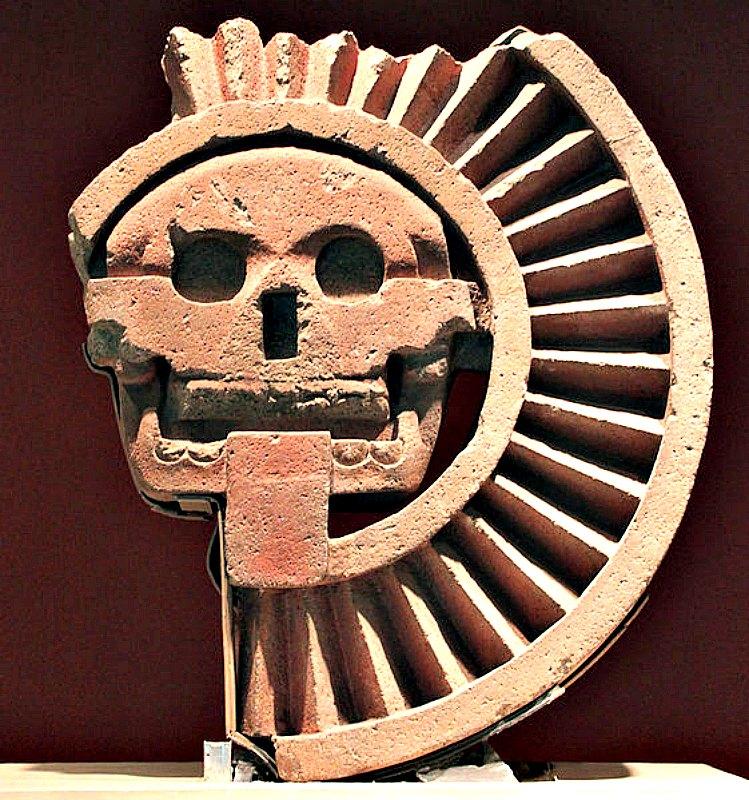 Representación en piedra de Mictlantecuhtli, dios azteca de los Muertos, hallada en Teotihuacan y actualmente expuesta en el Museo Nacional de Antropología de Ciudad de México. (Anagoria/CC BY 3.0)