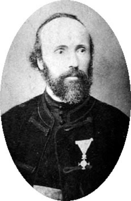 El sacerdote de la Iglesia Ortodoxa serbia Milutin Tesla, padre de Nikola Tesla. (Public Domain)