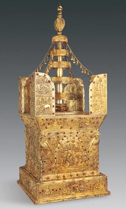 Modelo de stupa a escala (Chinese Cultural Relics)