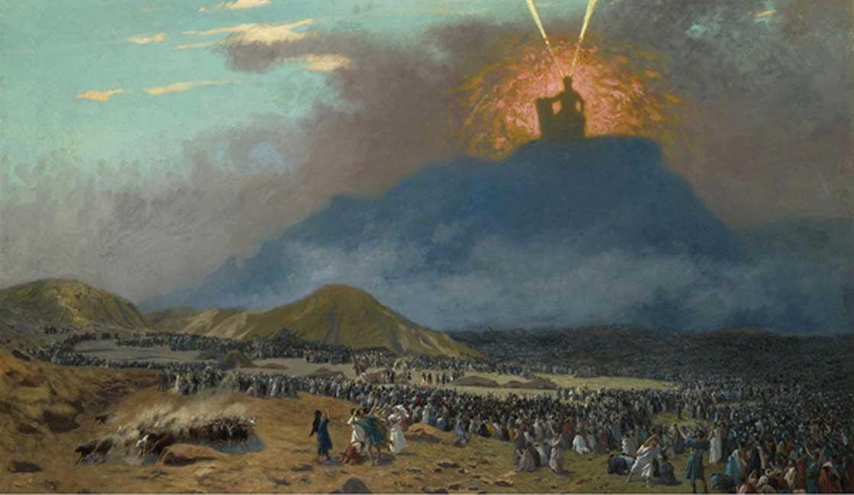 'Moisés en el Monte Sinaí' (Éxodo 19), óleo pintado en 1895 – 1900 por Jean-Léon Gérôme. (Dominio público)