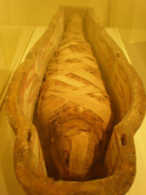 """Otra de las momias que se encuentran en la actualidad en California, concretamente en la Universidad Stanford, es la de la """"Cantora de Amón"""". Al igual que la de Hatasón, esta momia es aproximadamente de la época de la dinastía XXI. (Fotografía: Broken Sphere/Wikimedia Commons)"""