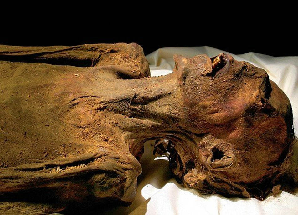 Momia del Hombre Desconocido E. (National Geographic Society)