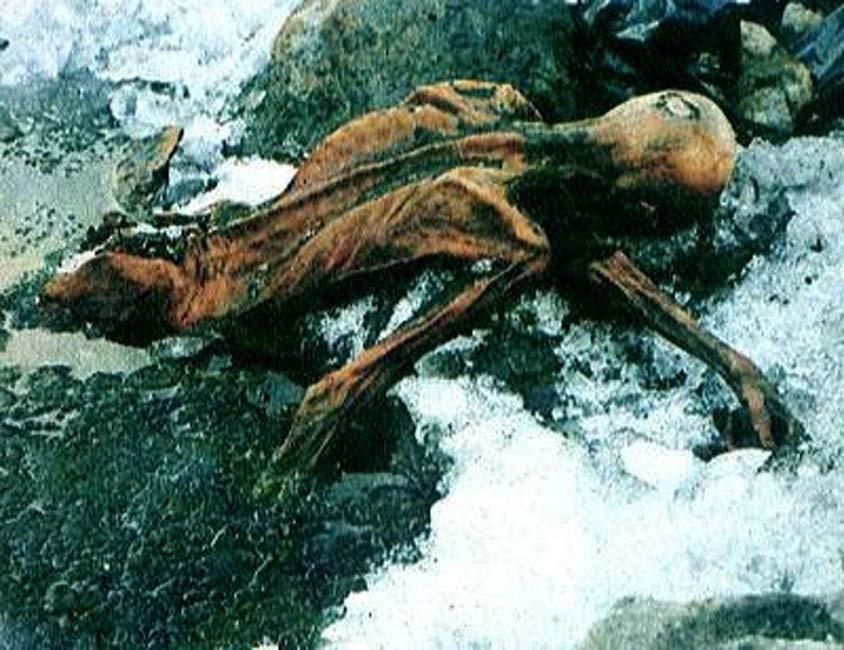La momia de Ötzi tal y como fue descubierta (vaxzine / flickr)
