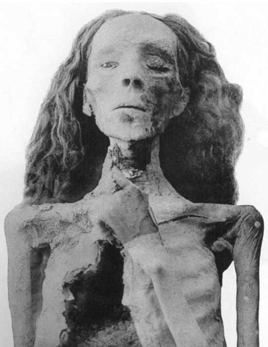 Momia de la reina Tiy, actualmente en el Museo Egipcio de El Cairo. (Public Domain)