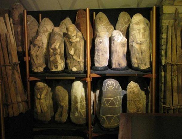 Momias chachapoyas envueltas en telas y expuestas en el Museo Leymebamba. (C-Monster/ CC BY NC 2.0 )