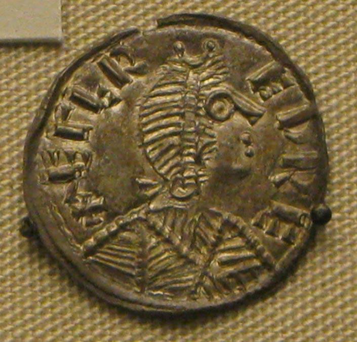 Moneda de plata con la efigie de Alfredo el Grande (Public Domain)