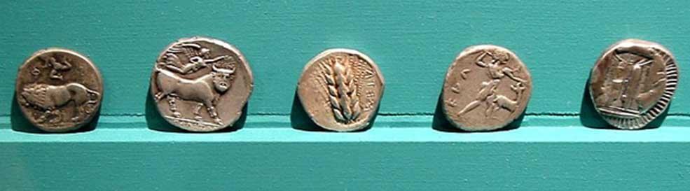 Monedas procedentes de Magna Grecia. (CC BY SA 2.5)