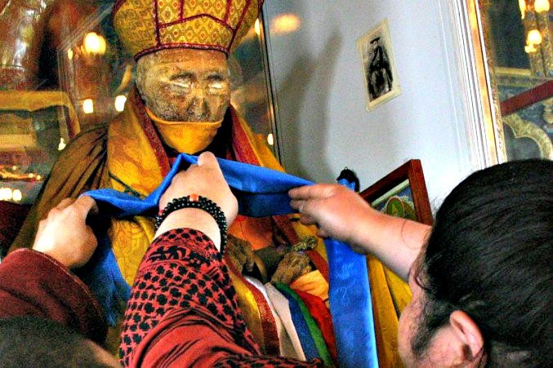 Aspecto del monje budista Dashi-Dorzho Itigelov, fallecido hace casi un siglo. (Fotografía: La Gran Época)