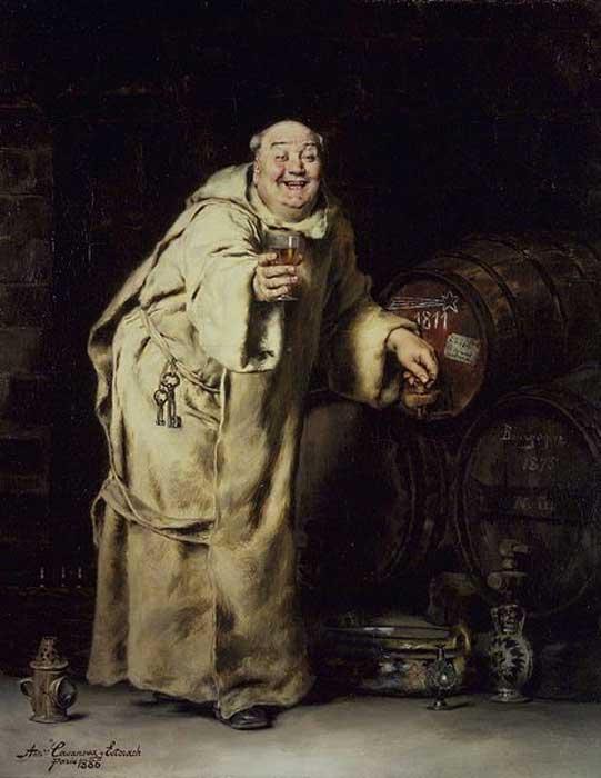 'Monje probando vino' (1886) óleo de Antonio Casanova y Estorach, Museo de Brooklyn. (Public Domain)