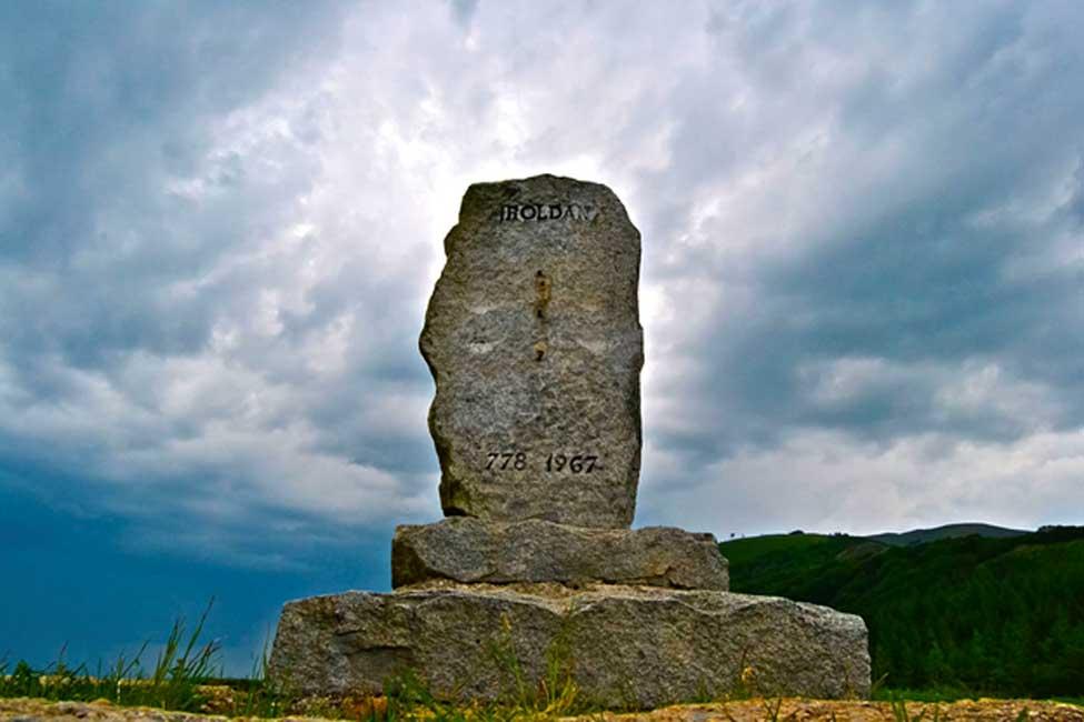 Monumento a Roldán en el Paso de Roncesvalles. (CC BY-SA 3.0)