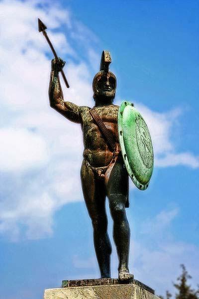 Monumento al rey Leónidas I en las Termópilas. (CC BY-SA 3.0)