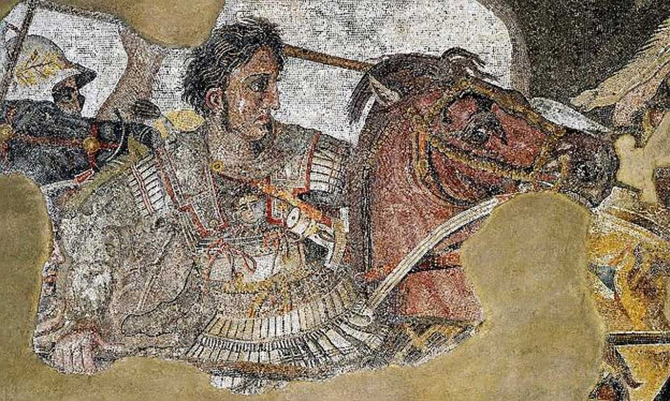 Alejandro Magno: detalle del Mosaico de Issos, Pompeya. (Public Domain)