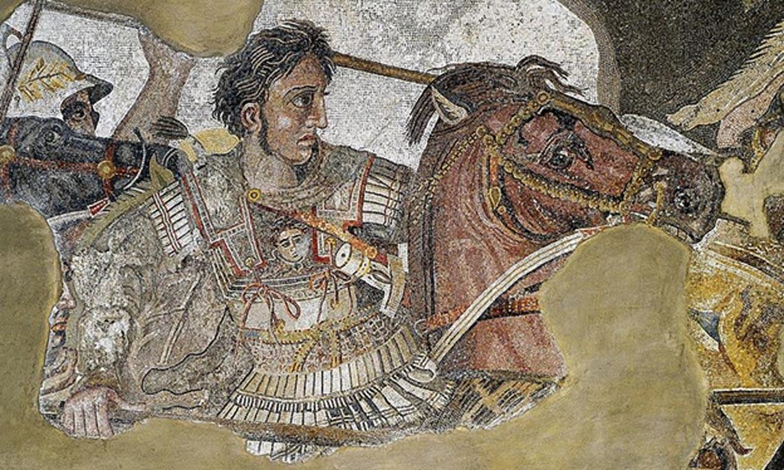Detalle del Mosaico de Issos en el que se observa a Alejandro Magno. (Public Domain)