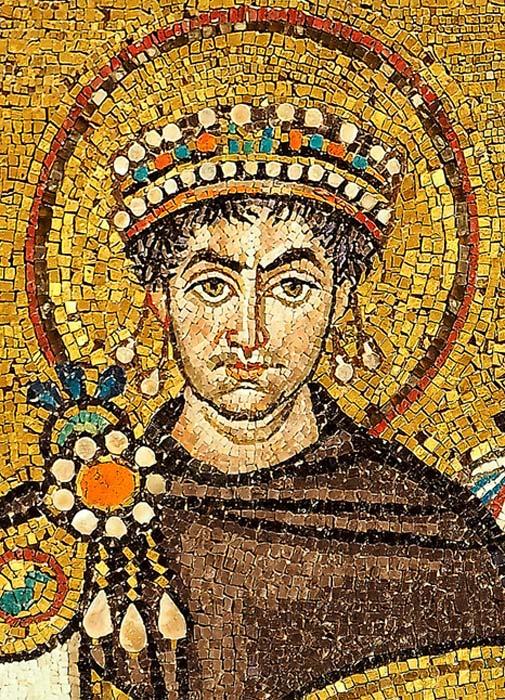 Retrato de Justiniano, mosaico de la Iglesia de San Vital de Rávena. (Wikimedia Commons)