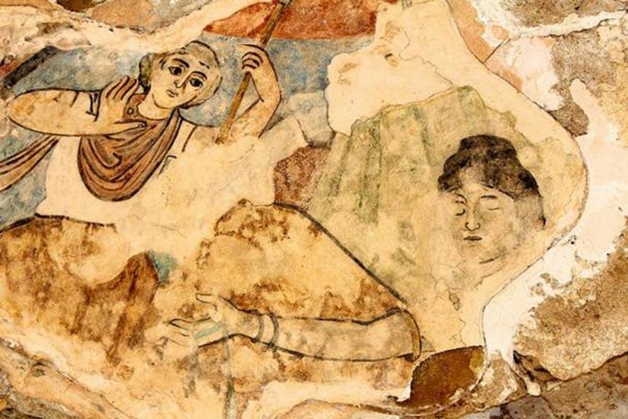 Mosaico descubierto en las ruinas romanas de Salamina. (John Higgins/Flickr)