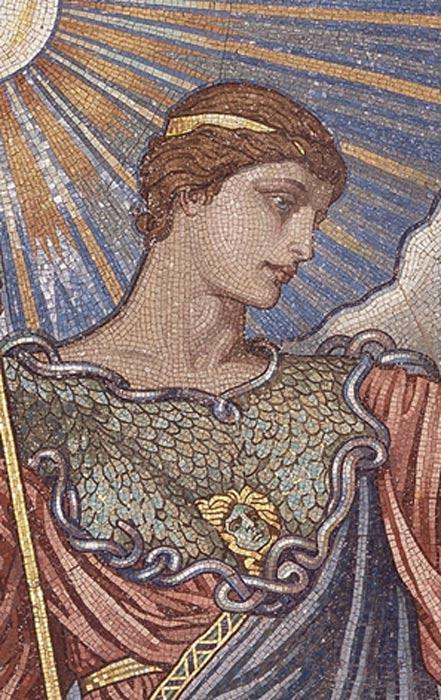 Mosaico de 'Minerva de la Paz', Biblioteca del Congreso. (Public Domain)