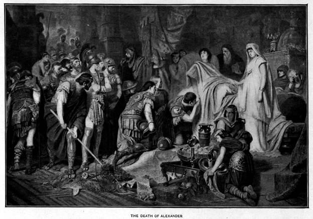 La muerte de Alejandro Magno. (Tarawneh/Dominio público)