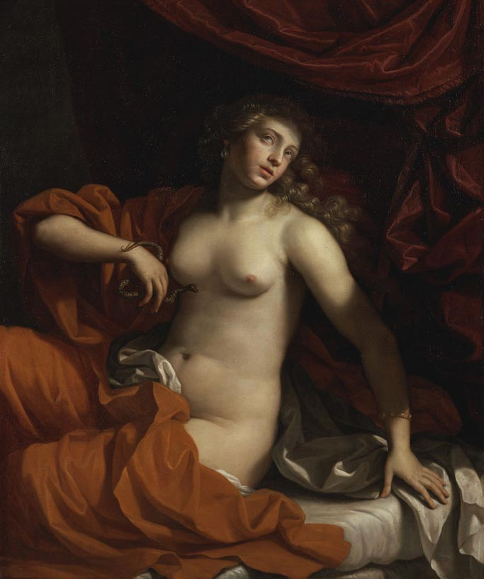 La muerte de Cleopatra (1675), óleo de Benedetto Gennari (Wikimedia Commons)