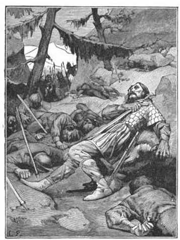 La muerte de Roldán y sus hombres. (Public Domain)