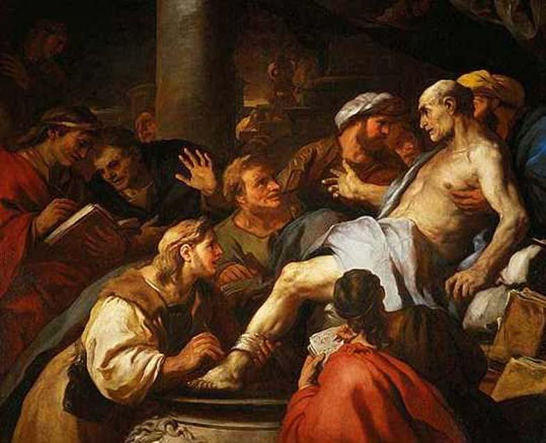 """""""La muerte de Séneca"""" (1684), óleo de Luca Giordano que representa el suicidio de Séneca el Joven en la antigua Roma. (Dominio público)"""