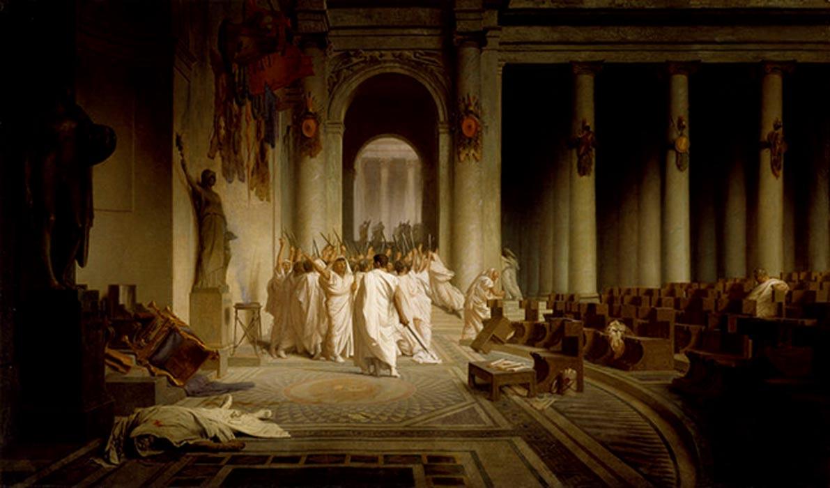 'Muerte de César', óleo de Jean-Léon Gérôme. (Walters Art Museum/Public Domain)