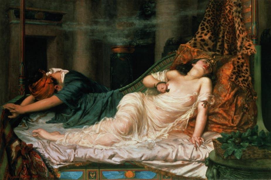 Muerte de Cleopatra, óleo de Reginald Arthur. (Public Domain)