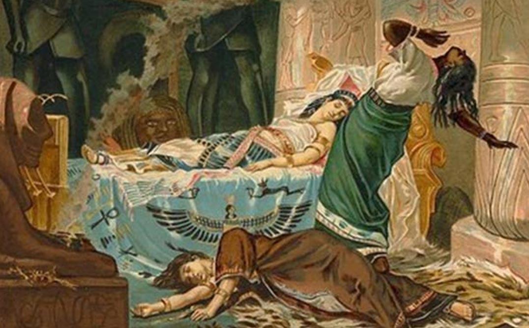 'La muerte de Cleopatra', óleo de Juan Luna (1881) (Public Domain)