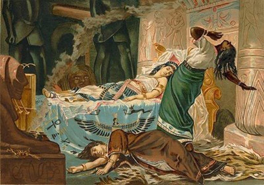 'Muerte de Cleopatra' (1881), óleo de Juan Luna. (Public Domain)