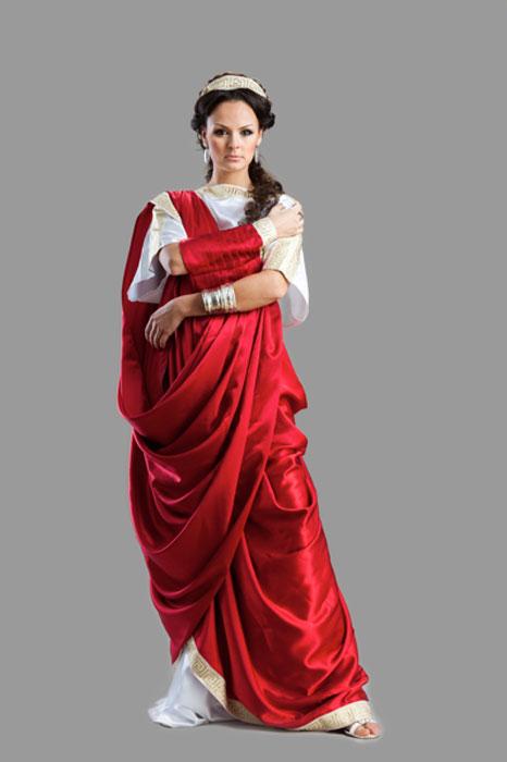 Así vestía una mujer de la antigua Roma. (Zadiraka/Adobe)