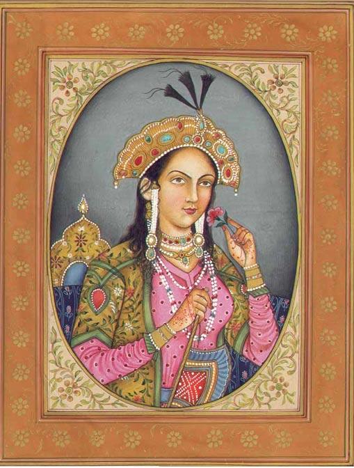 Representación artística de Mumtaz Mahal, esposa de Shah Jahan enterrada en el Taj Mahal, mausoleo dedicado a su memoria. (Public Domain)