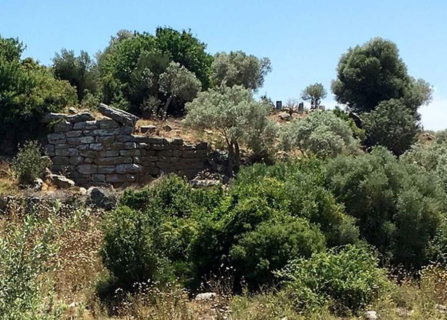 Muro defensivo o de contención en Bargilia. (Hwhorwood/CC BY SA 4.0)
