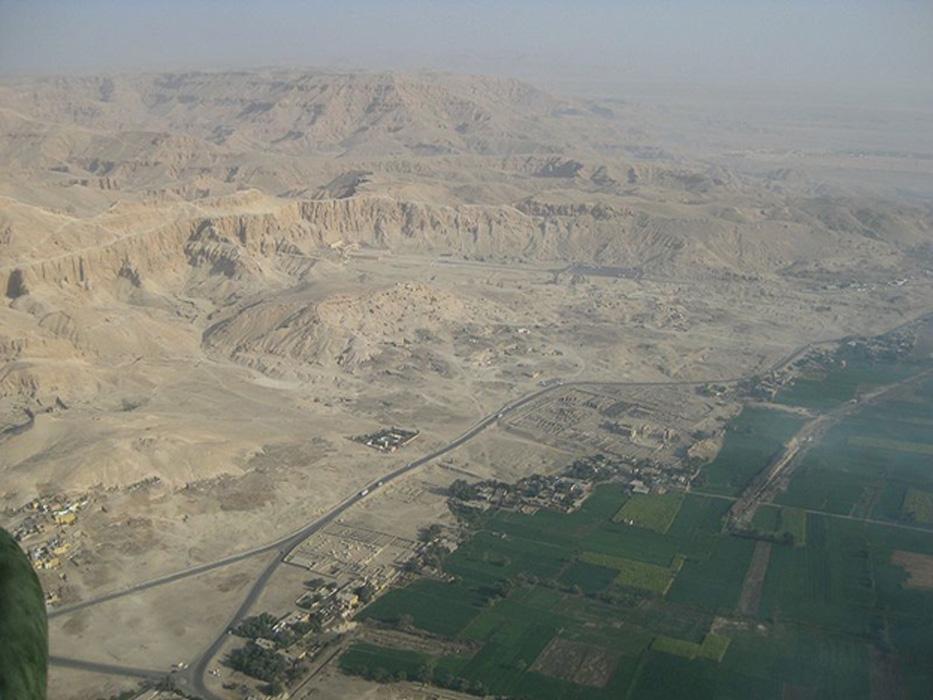 Vista aérea de la Necrópolis de Tebas. (Steve F-E-Cameron/CC BY 3.0)