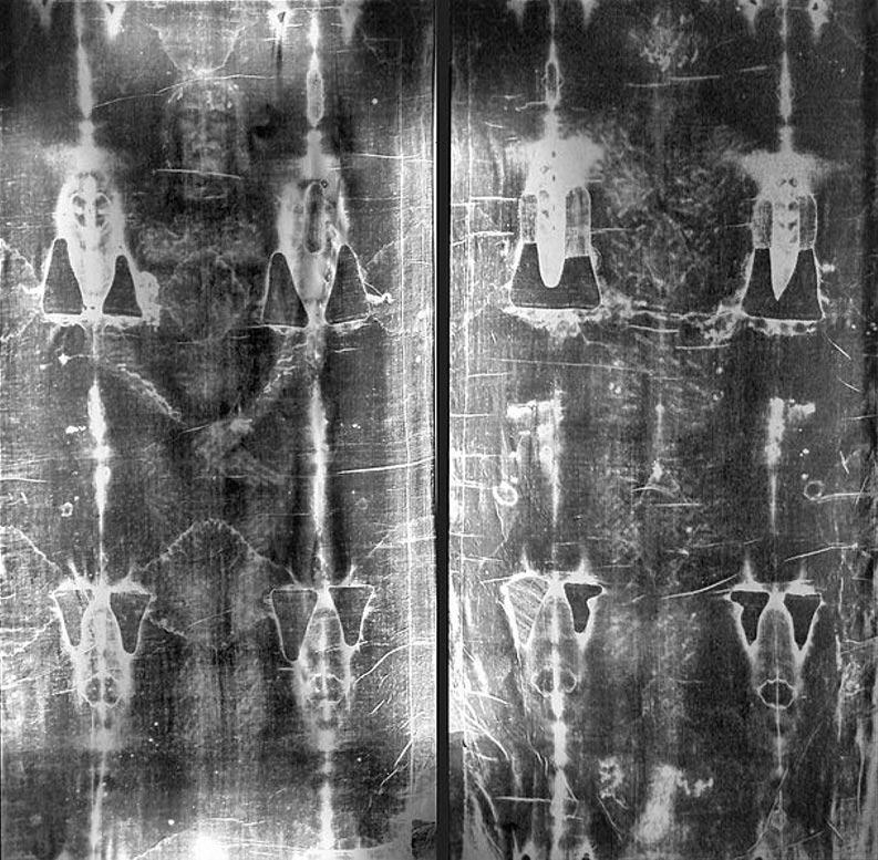 Negativos fotográficos de la Sábana Santa de Turín. (Public Domain)