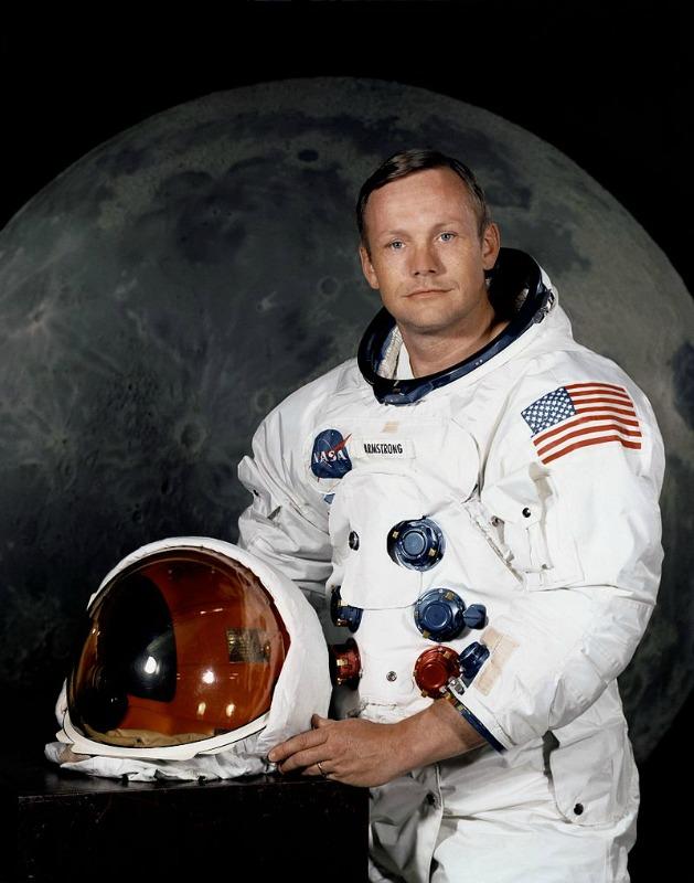Neil Armstrong en julio de 1969. (Public Domain).