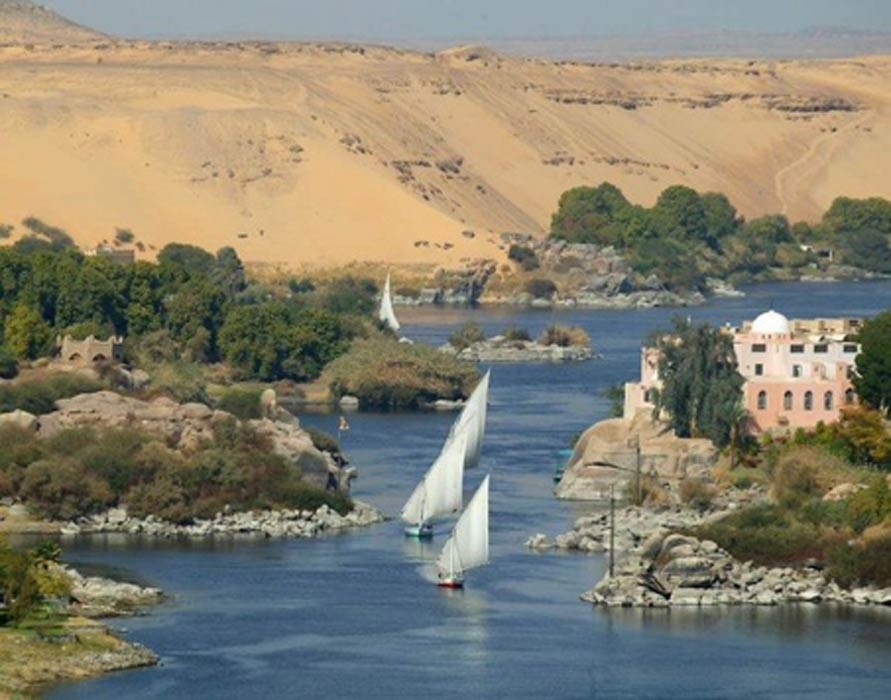 El río Nilo a su paso por Asuán, Egipto. (Citadelite/CC BY SA 3.0)