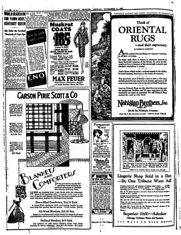 Ejemplar del Chicago Tribune, correspondiente al 7 de Noviembre de 1927, en cuya esquina superior izquierda se informa sobre Fawn Hoof. (Fotografía: Código Oculto).