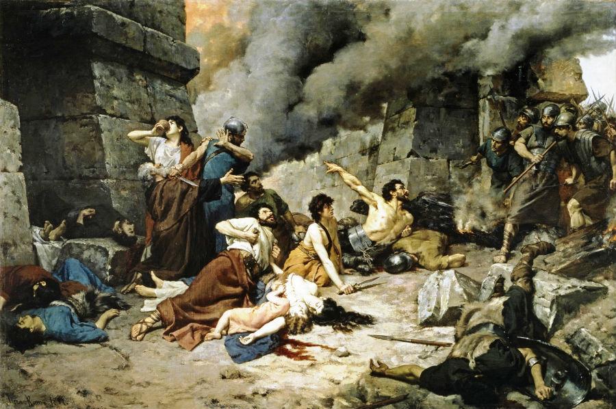 'Numancia', óleo de Alejo Vera Estaca (1881). (Public Domain)