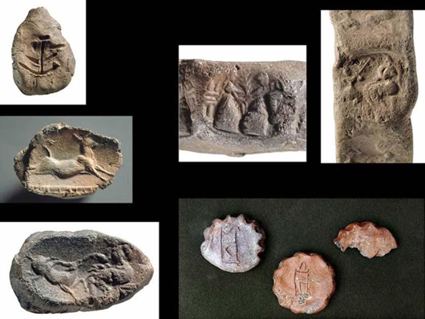 Antiguos objetos hallados en el palacio micénico de Cidonia. (Maria Andreadaki-Vlazaki via ANA-MPA)