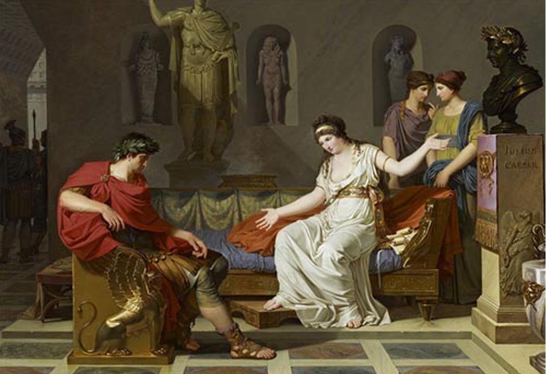 'Octavio y Cleopatra,' óleo de Louis Gauffier pintado en 1787 (Public Domain). ¿Fue Octavio responsable de la muerte de Cleopatra?