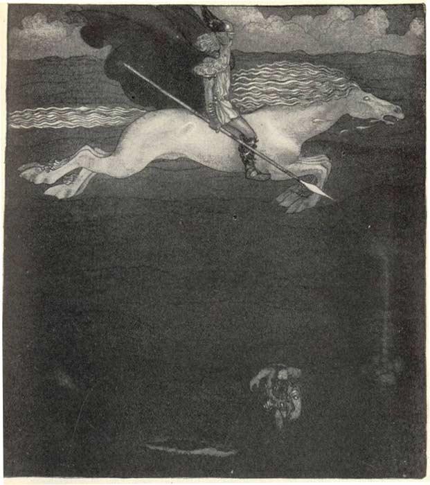 Odín y Sleipnir. (Public Domain)