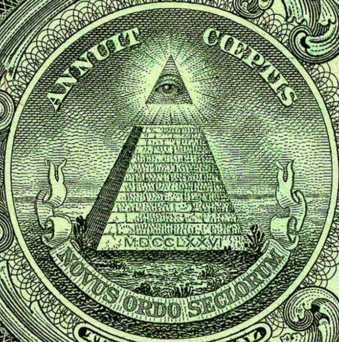 El Ojo de la Providencia puede observarse en el reverso del Gran Sello de los Estados Unidos, que aquí vemos en su versión impresa sobre los billetes de un dólar. (Public Domain)