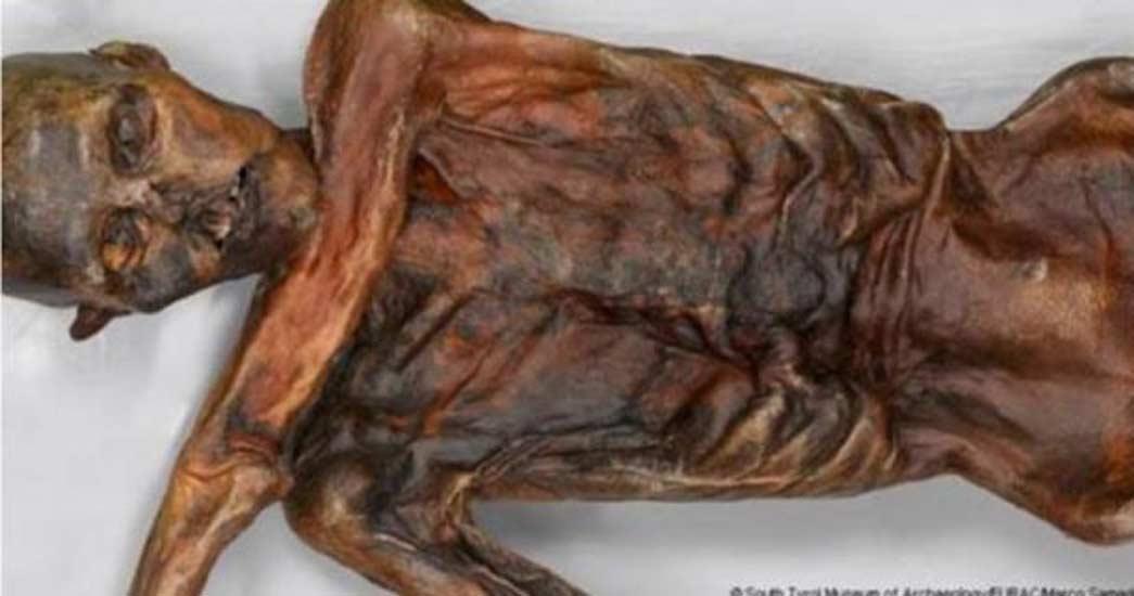 Ötzi, el Hombre de Hielo. (Museo de Arqueología del Tirol del Sur)
