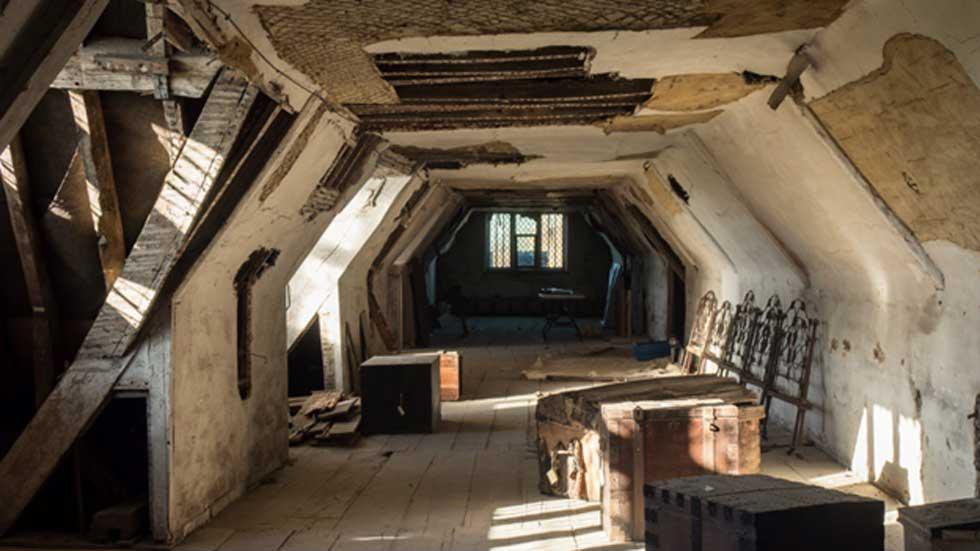 El pabellón sur de la mansión Knole House en el que fueron descubiertas las cartas. (Fotografía: National Trust)