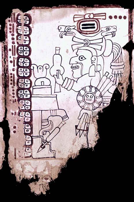 Página 5 del Códice Grolier (mayavase.com)