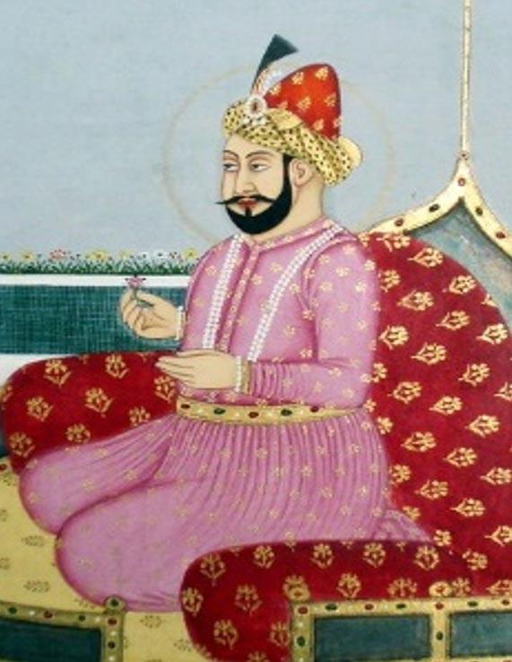 Retrato de Humayun de India. Siglo XVIII.