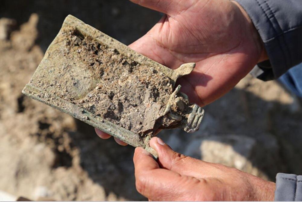 En las excavaciones se encontró esta pala para el incienso. (Eyad Bisharat – Autoridad de Antigüedades de Israel)