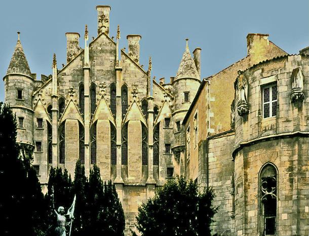 El Palacio de Poitiers, probable lugar de nacimiento de Leonor de Aquitania (Wikimedia Commons)